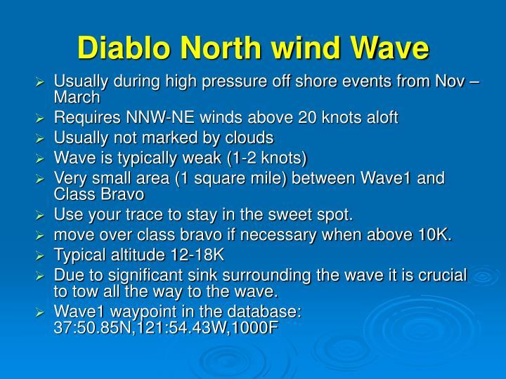 Diablo North wind Wave