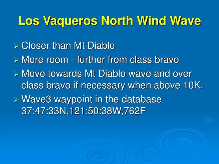 Los Vaqueros North Wind Wave