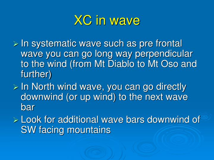 XC in wave