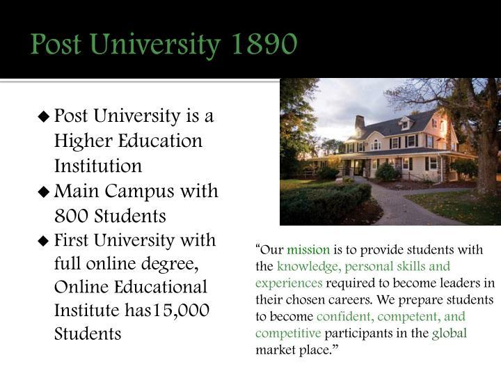 Post University 1890