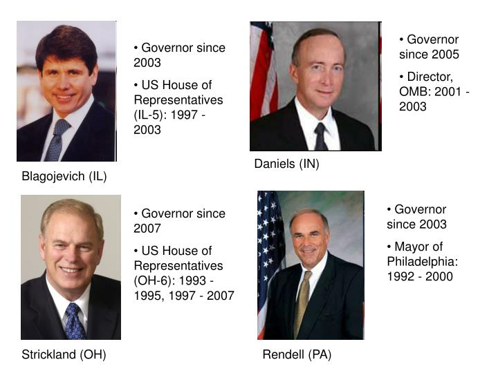 Governor since 2005