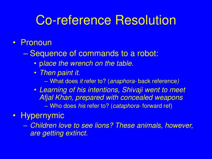 Co-reference Resolution