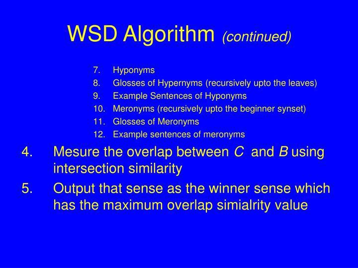 WSD Algorithm