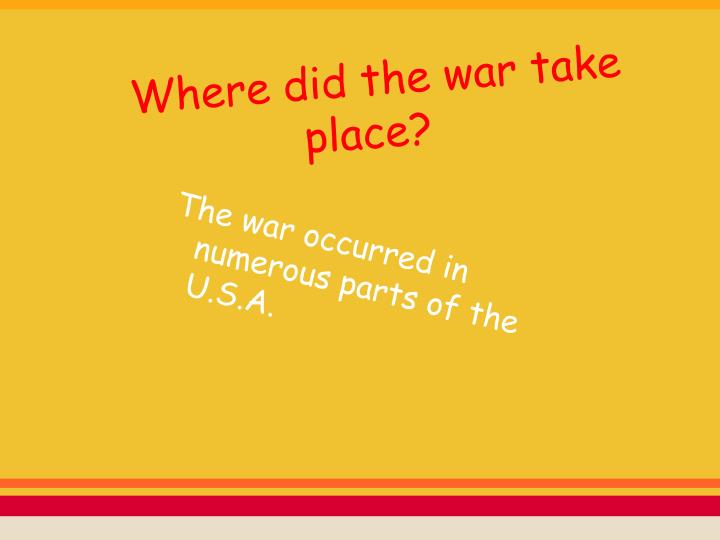 Where did the war take place