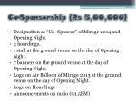 co sponsorship rs 5 00 000