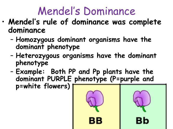 Mendel's Dominance