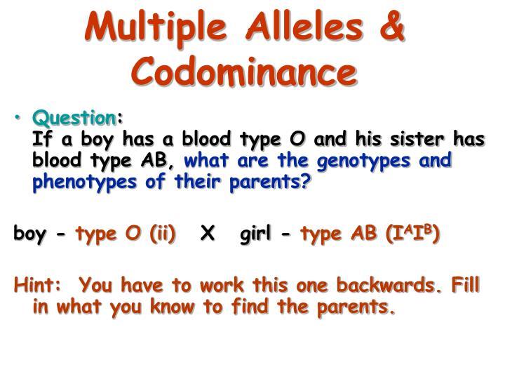 Multiple Alleles &