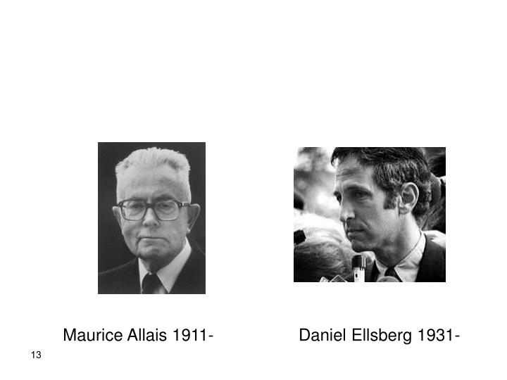Maurice Allais 1911-