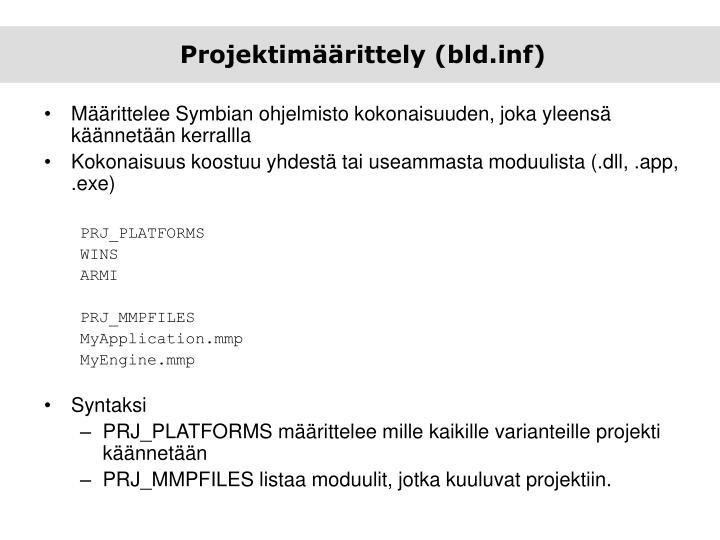 Projektimäärittely (bld.inf)