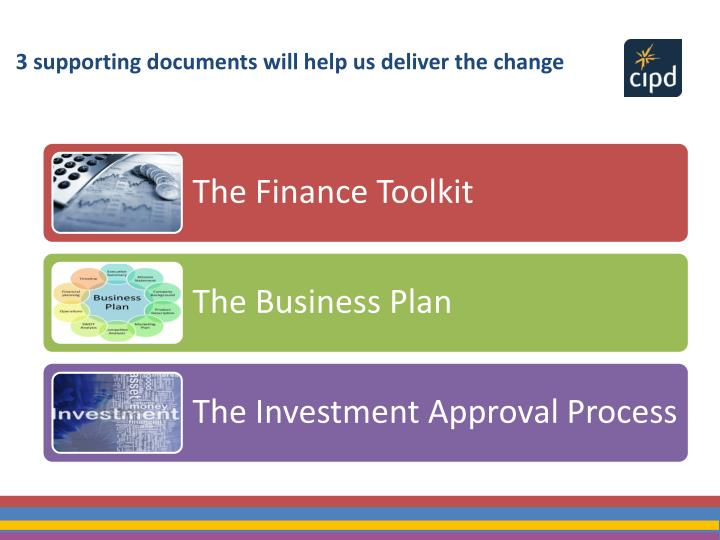 3 supporting documents will help us deliver the change