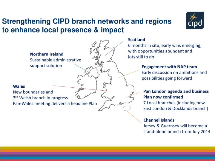 Strengthening CIPD branch networks and regions to enhance local presence & impact