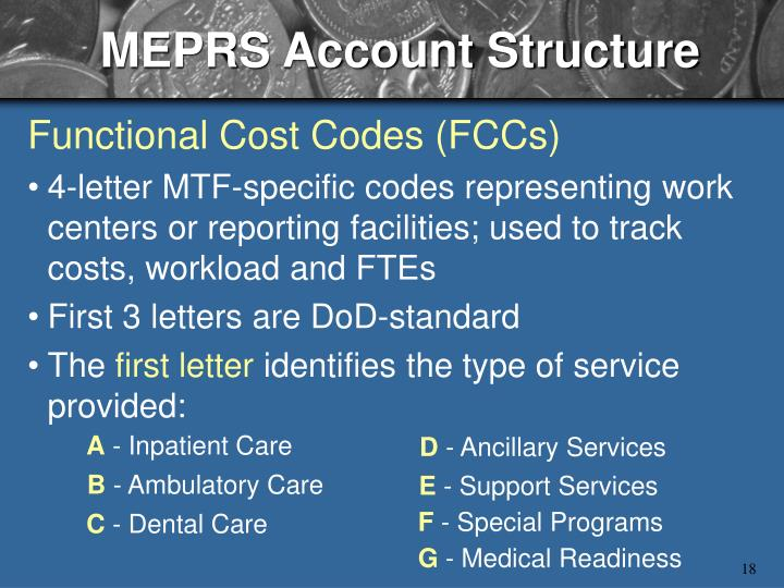MEPRS Account Structure