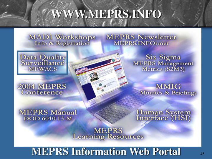 WWW.MEPRS.INFO