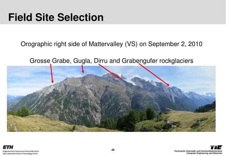 Field Site Selection