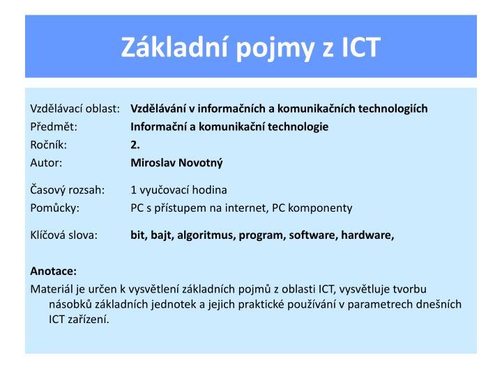 Základní pojmy z ICT