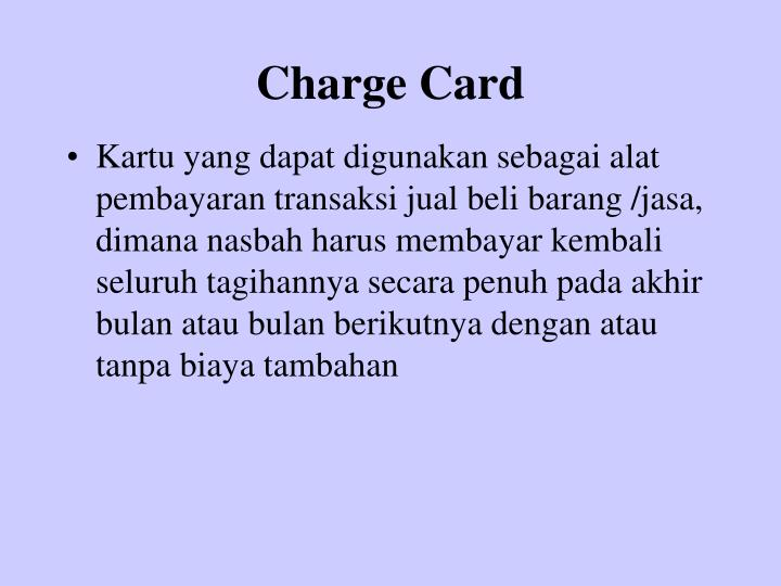 Charge Card