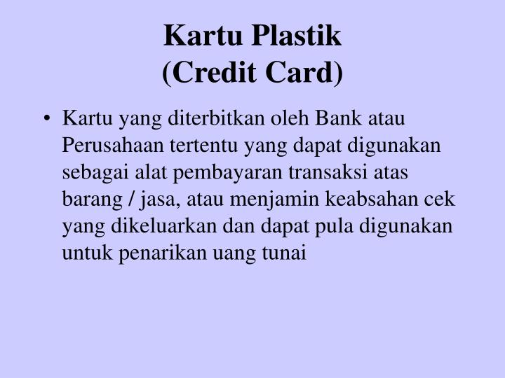 Kartu plastik credit card