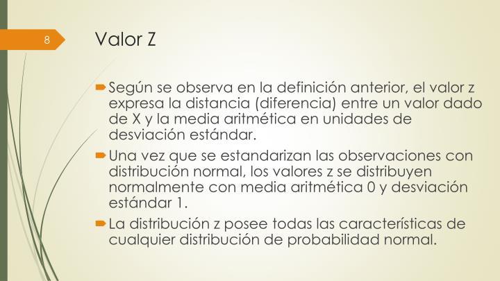 Valor Z