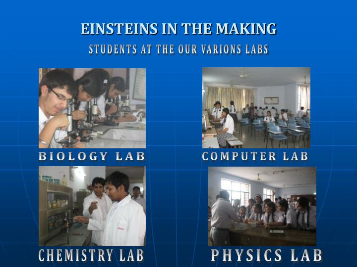 EINSTEINS IN THE MAKING