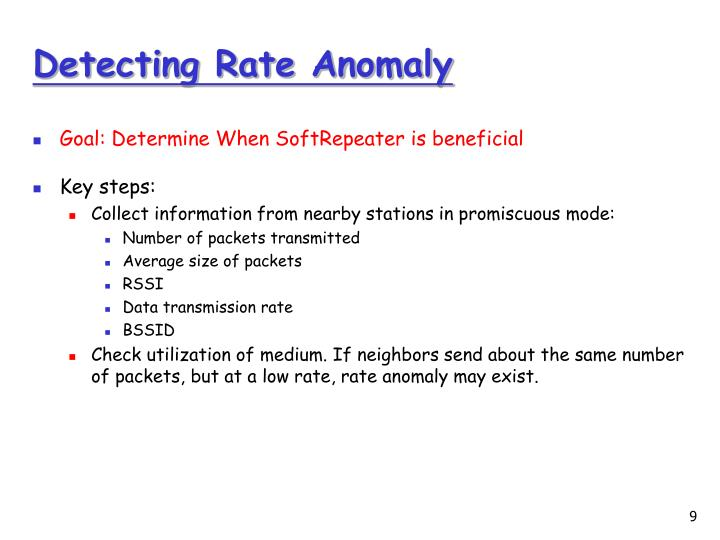 Detecting Rate Anomaly