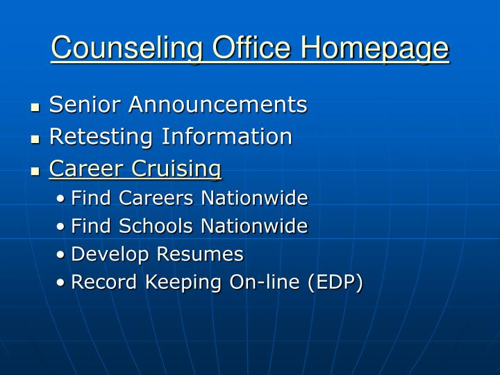 Counseling Office Homepage