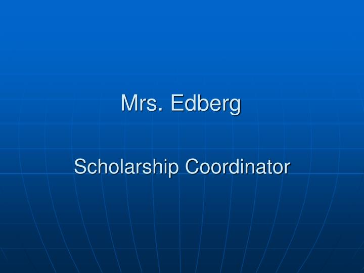 Scholarship Coordinator