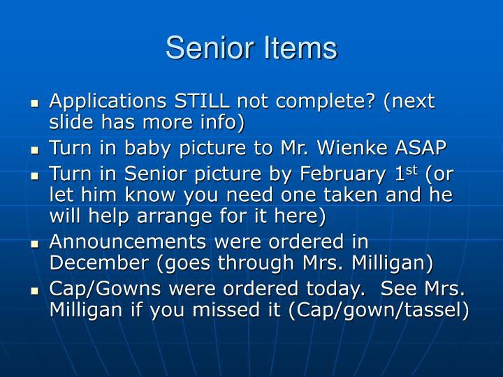 Senior Items