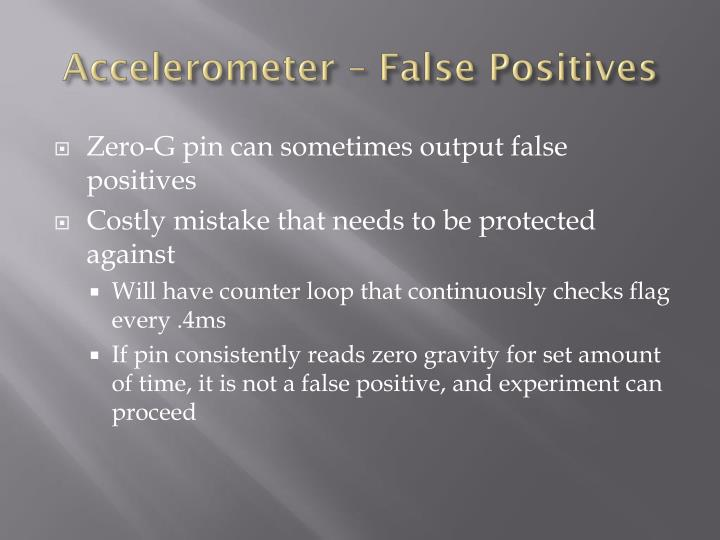 Accelerometer – False Positives