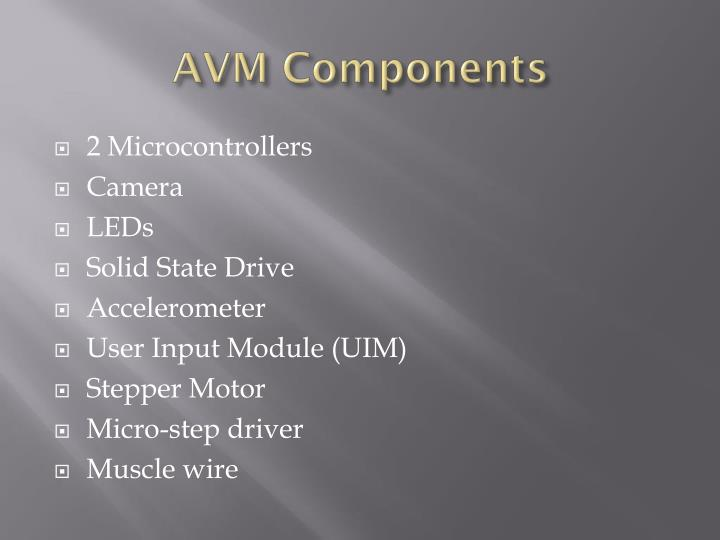 AVM Components