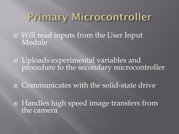 Primary Microcontroller
