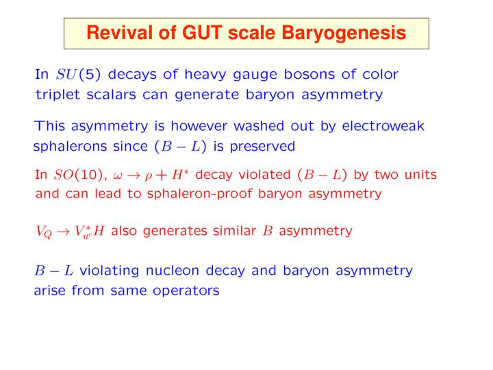 Revival of GUT scale Baryogenesis