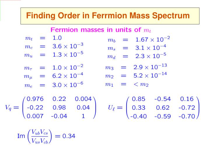Finding Order in Ferrmion Mass Spectrum