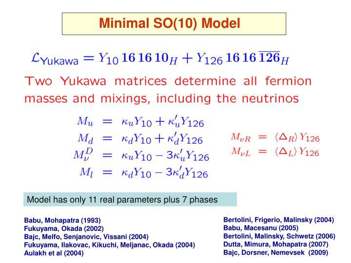 Minimal SO(10) Model