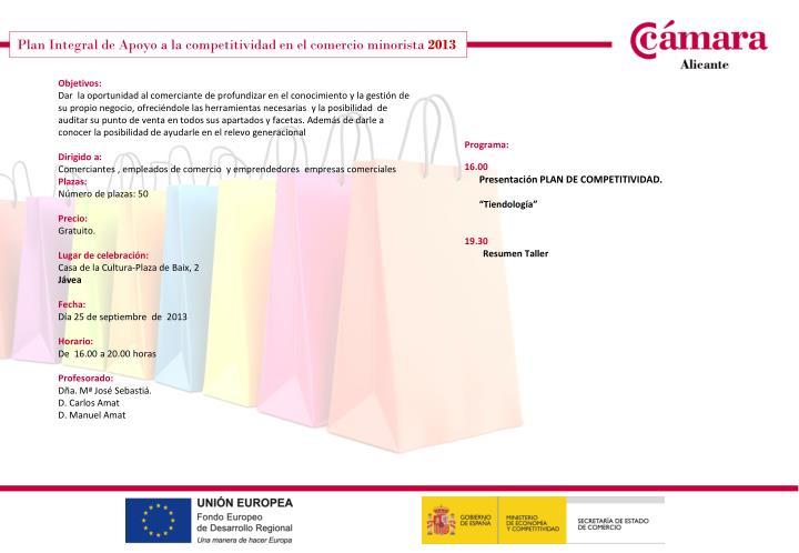 Plan Integral de Apoyo a la competitividad en el comercio minorista