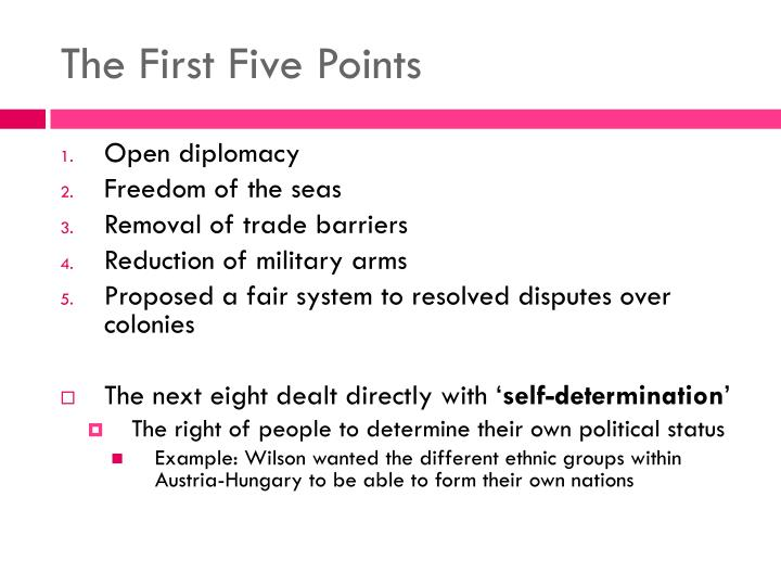 The First Five Points