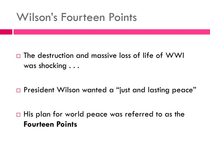 Wilson s fourteen points