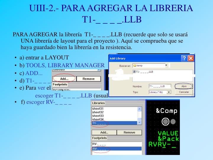 UIII-2.- PARA AGREGAR LA LIBRERIA