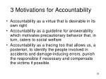 3 motivations for accountability
