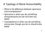 a typology of moral accountability2