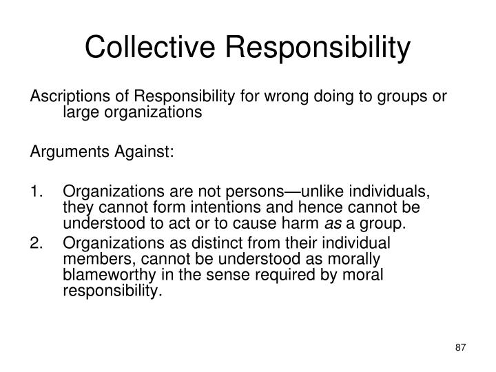 Collective Responsibility