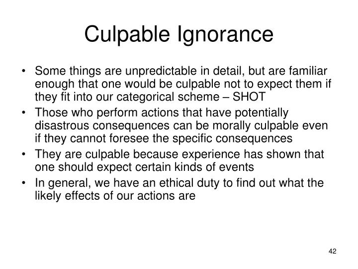 Culpable Ignorance