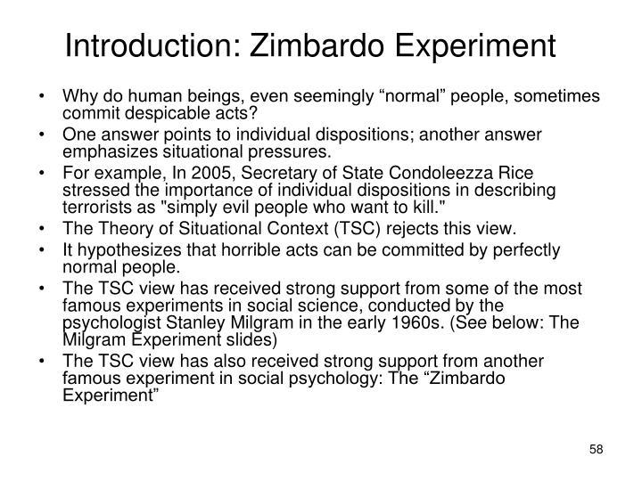 Introduction: Zimbardo Experiment