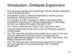 introduction zimbardo experiment