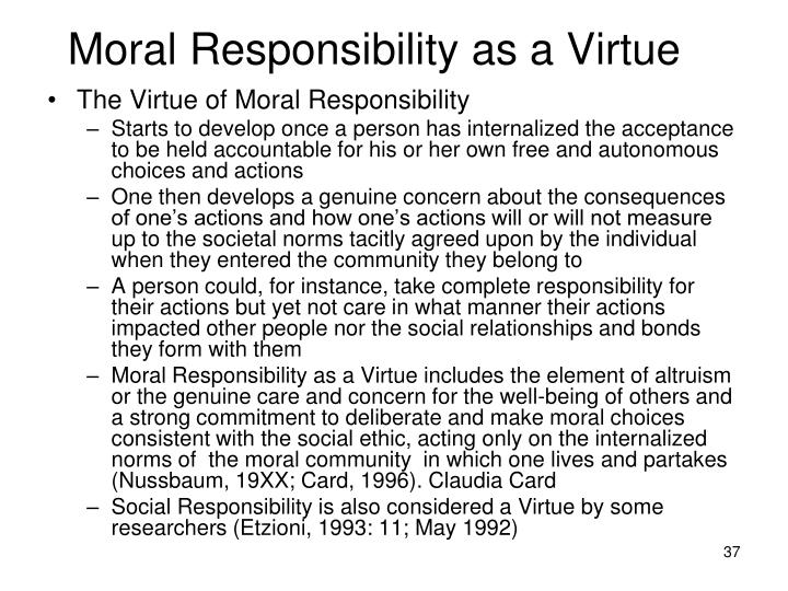 Moral Responsibility as a Virtue