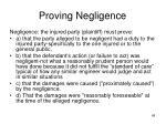 proving negligence1