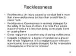 recklessness