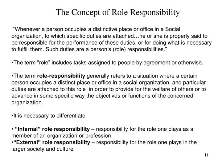 The Concept of Role Responsibility