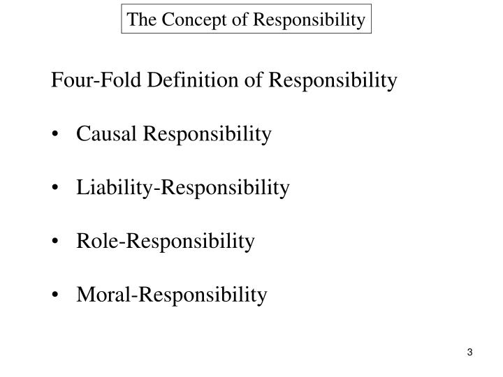 The Concept of Responsibility