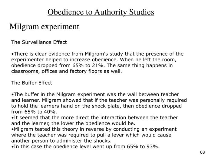 Obedience to Authority Studies