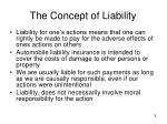 the concept of liability